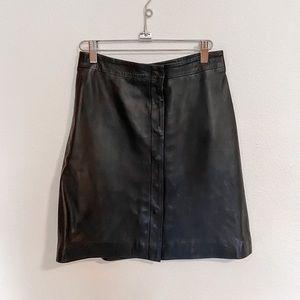 All Saints Leather High-waisted Leather Skirt
